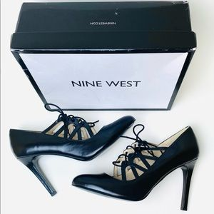 Nine West NEW Sasafraso Lace Up Stilettos Heels